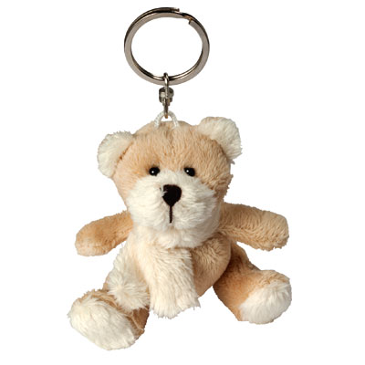 plush keychain bear with scarf