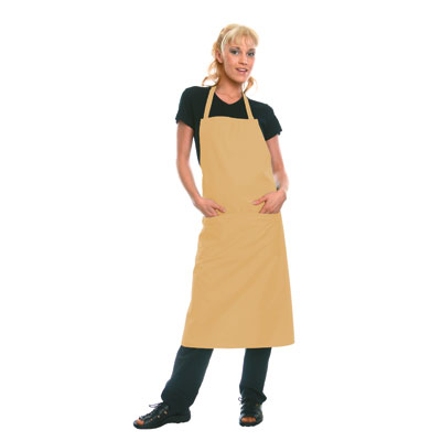 Bib-Apron Denmark, light yellow, 75x60cm